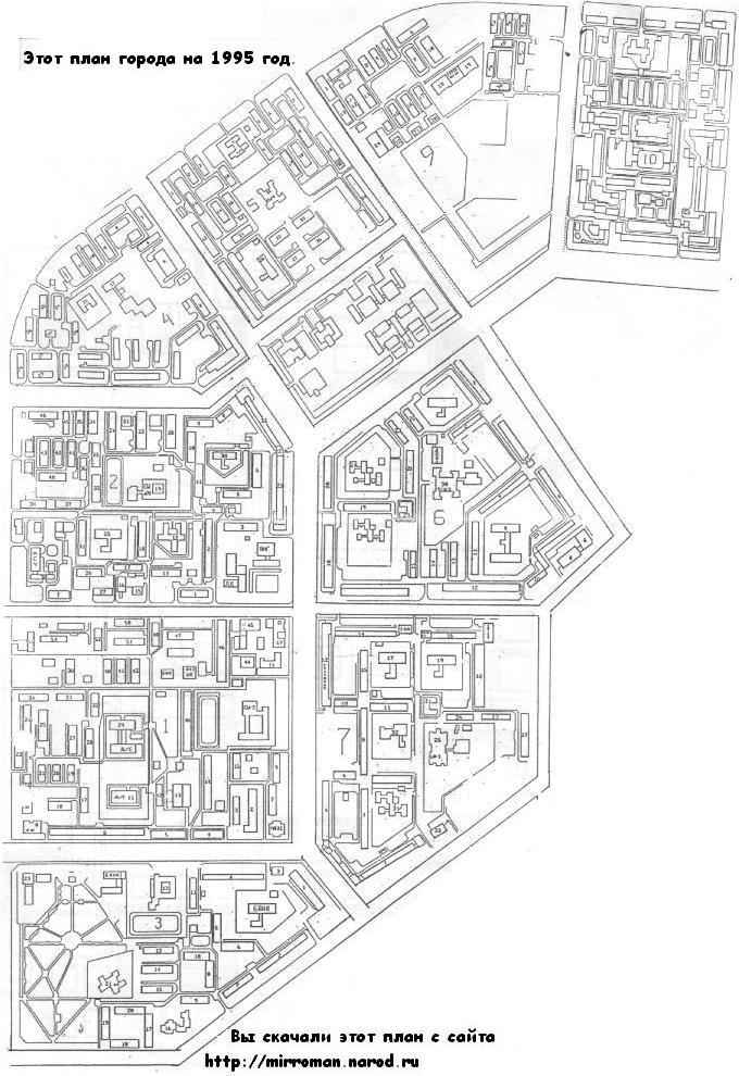 Радужный, Карта города
